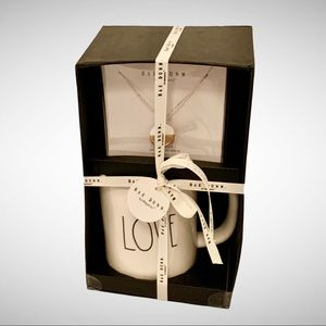 Rae Dunn LOVE Mug & Necklace Gift Set